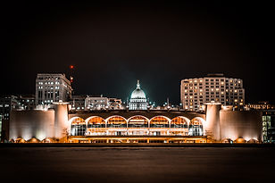 Nighttime Madison Wisconsin Capitol Buil