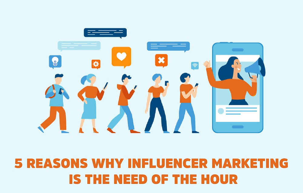 5 REASONS WHY INFLUENCER MARKETING IS THE NEED OF THE HOUR