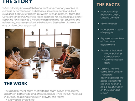 Case study: Building a Stronger Management Team in Manufacturing
