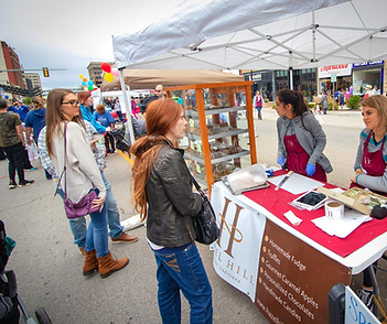 Vendors at Kansas Chocolate Festival