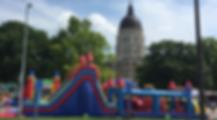 Inflatables at Kansas State Capitol