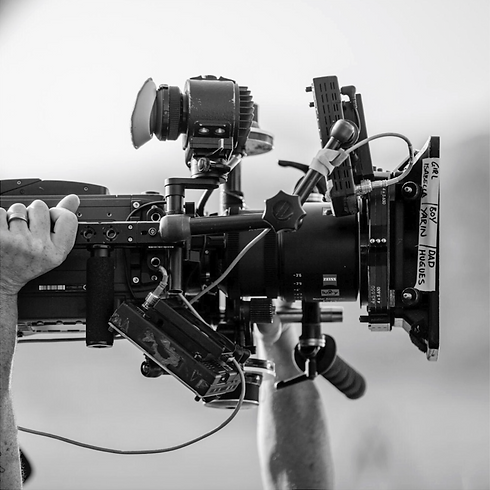 Camera on set of a film production