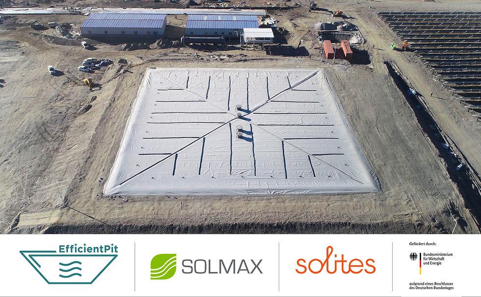 Solmax entwickelt mit Partner die nächste Generation der Erdbeckenwärmespeicher im Efficient Pit Projekt.