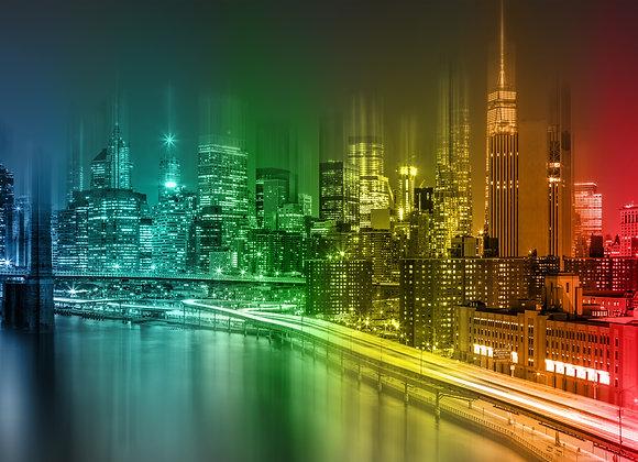 ניו יורק צבעוני בלילה