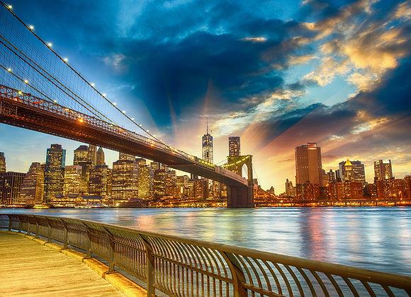 גשר בשקיעה