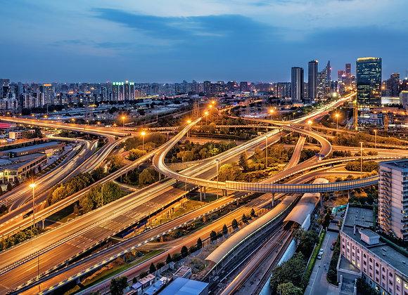 סין בייג'ינג בשקיעה
