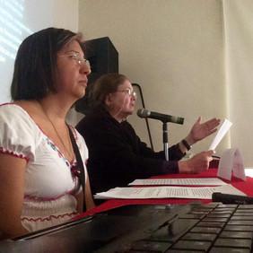 Conferencia magistral de la Dra. Laura Elena Corona y María Miriam Manrique.