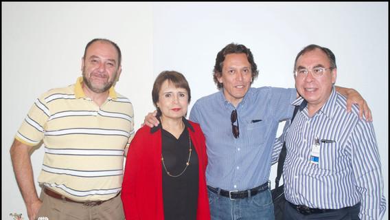 Dr. Ramón Espinaza, Dra. Margarita Loera, Mtro. Ricardo Cabrera y Dr. Jesús Galindo