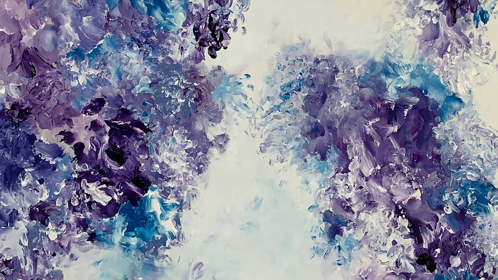 """Forget Me?  Not, 60""""x 20"""""""