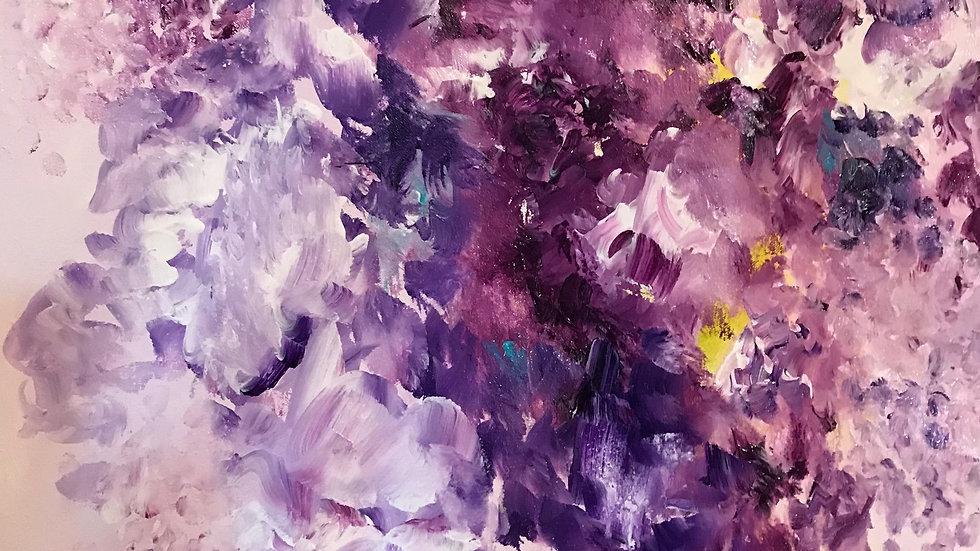 """Violet Dreams, canvas, 20""""x20"""""""
