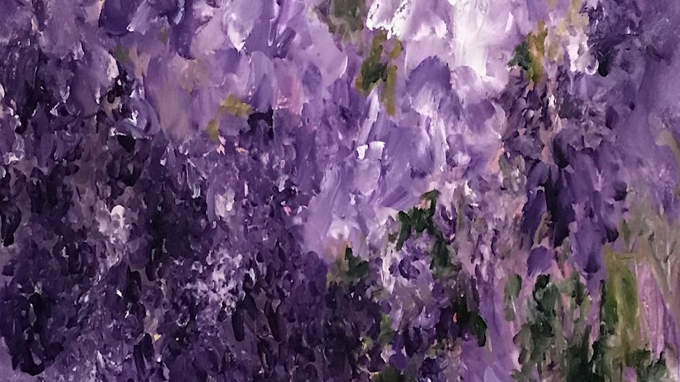 "Purple Wisteria Not Just In Monet's Garden, 40""x38"""