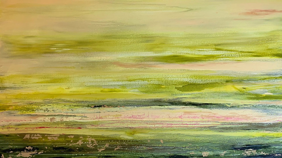 "Sun-Kissed Fields Commission, 30""x60"""