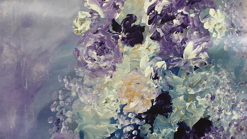 "Sharing Flowers With Friends, 22""x48"""