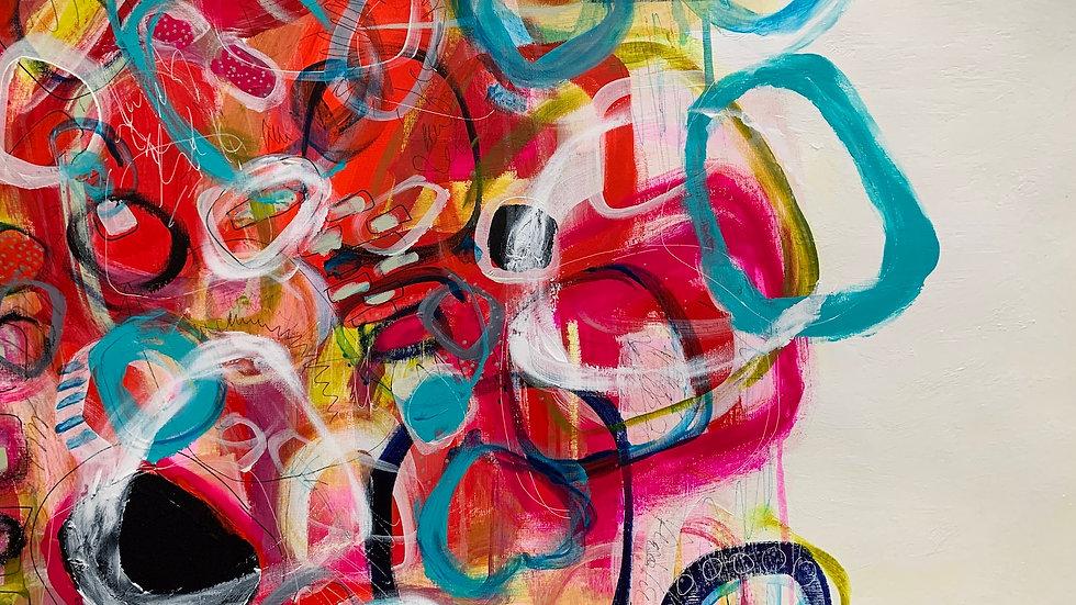 "Weekend Imagination, acrylic paper piece, 18""x 24"""