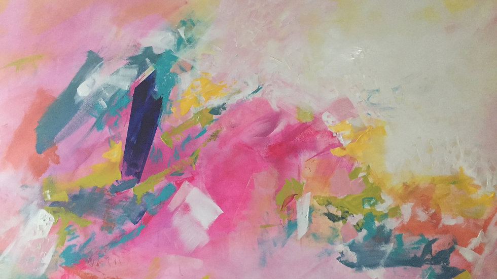 """Pink Opera, 48""""x70"""""""