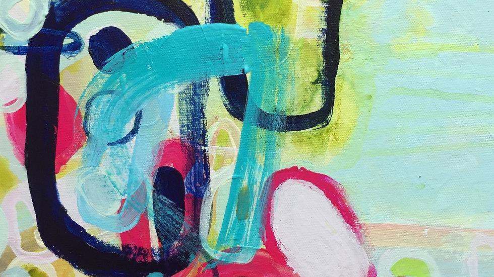 """Birth, canvas 12""""x12"""""""