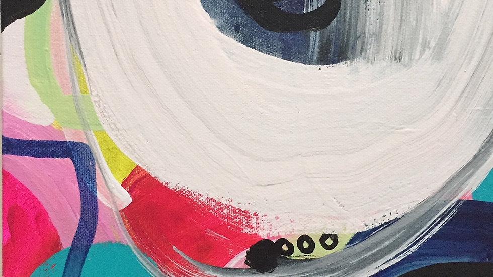 "Blush, canvas 8""x8"""