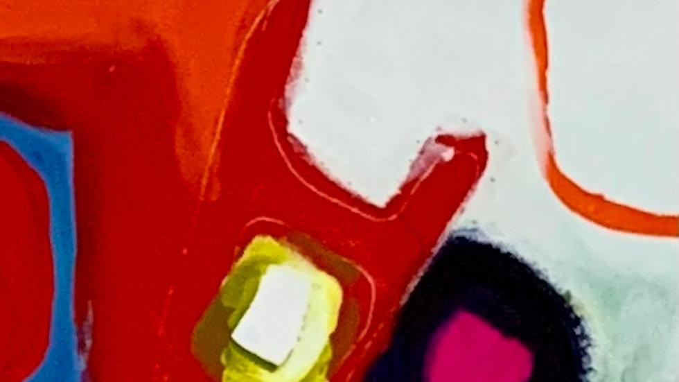 "Real Art, acrylic on canvas, 12""x 72"""