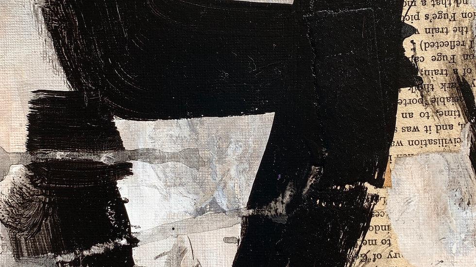 "Presence 4, acrylic on paper, 6""x 6"""