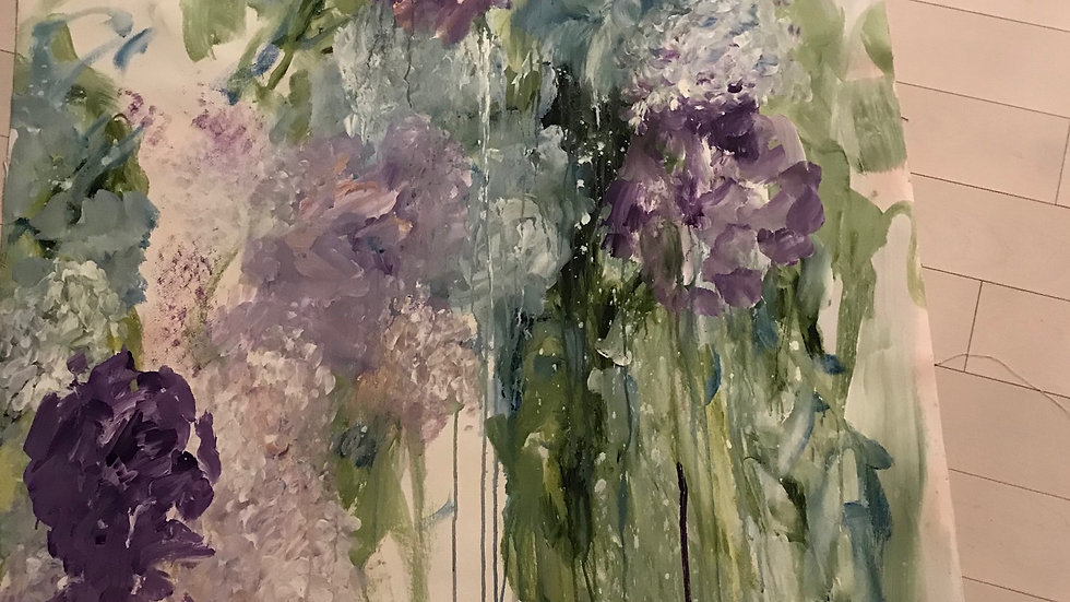 """After The Rain, 39""""x80"""""""