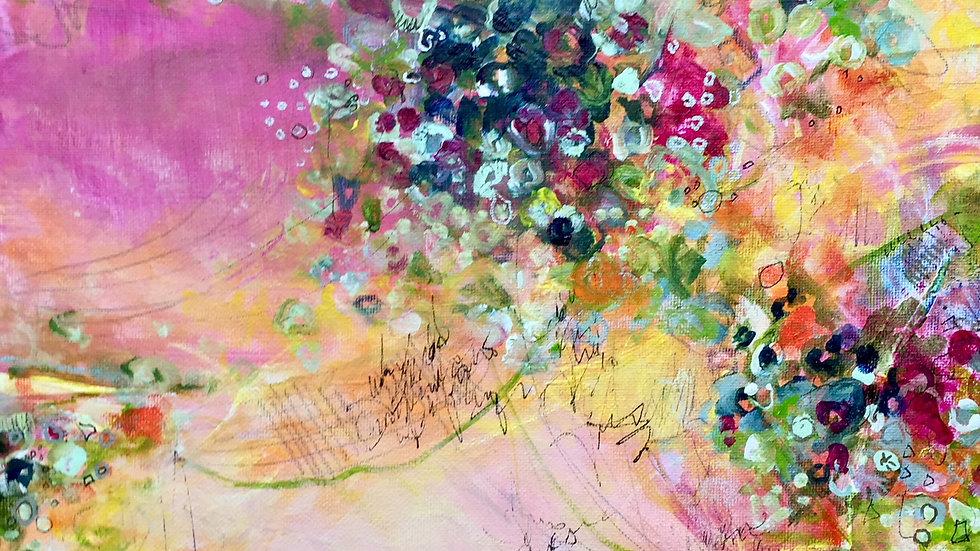"""Weekend At Klimt's, canvas 12""""x12"""""""