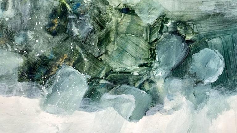 """Seaside Landscape, paper, 11""""x14"""""""