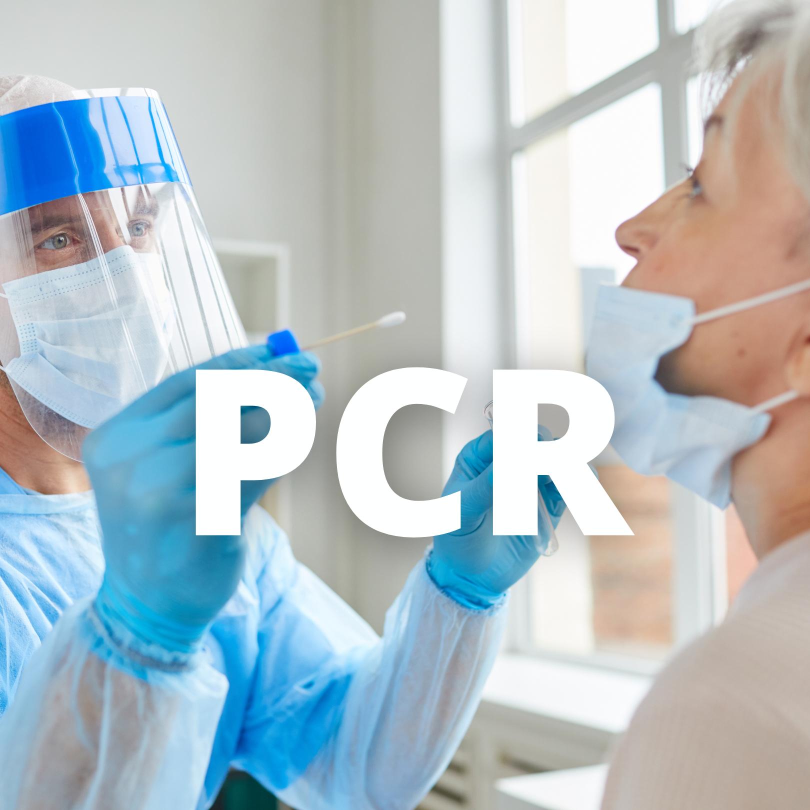 PCR en laboratorio (Labs in all islands)