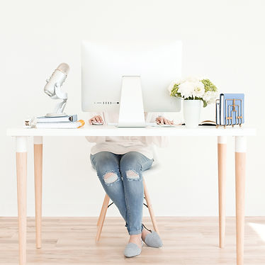 working from desk