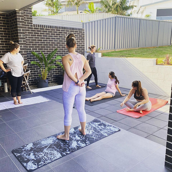 Bridal party yoga. Private yoga class