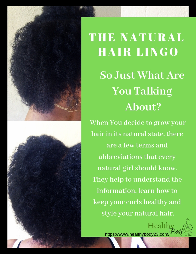 Natural hair lingo