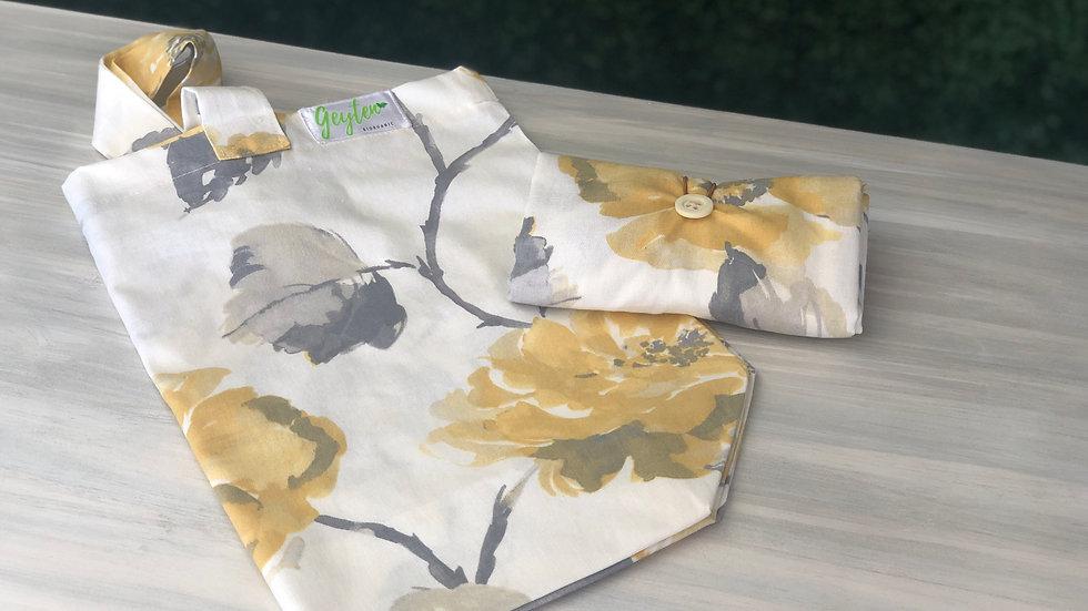 Bolsa de Tela Supermercado - Flor Amarilla