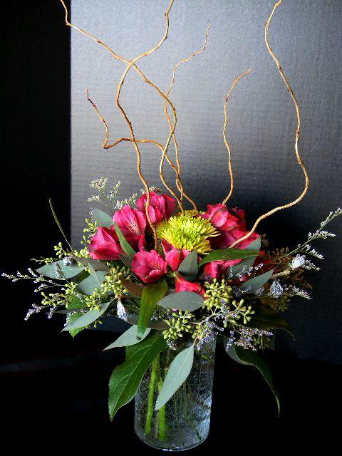 cracked vase arrang.