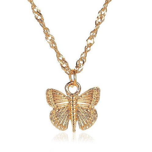 Simple Butterfly Chain Necklace