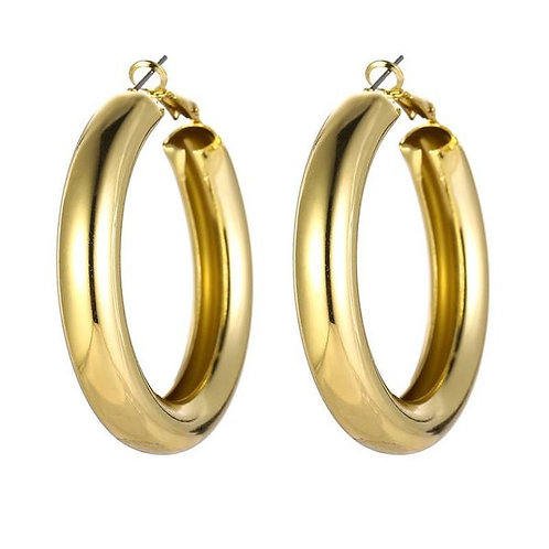 Big Gold Hooped Earrings