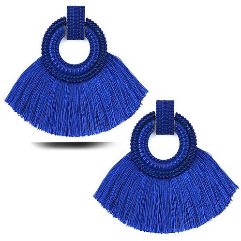 Blue Flare Earrings