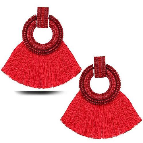 Red Flare Earrings