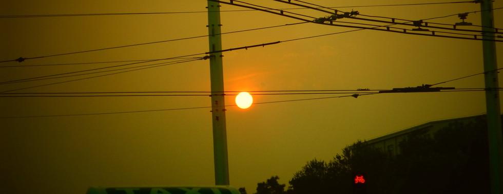 Coucher de soleil, Datong