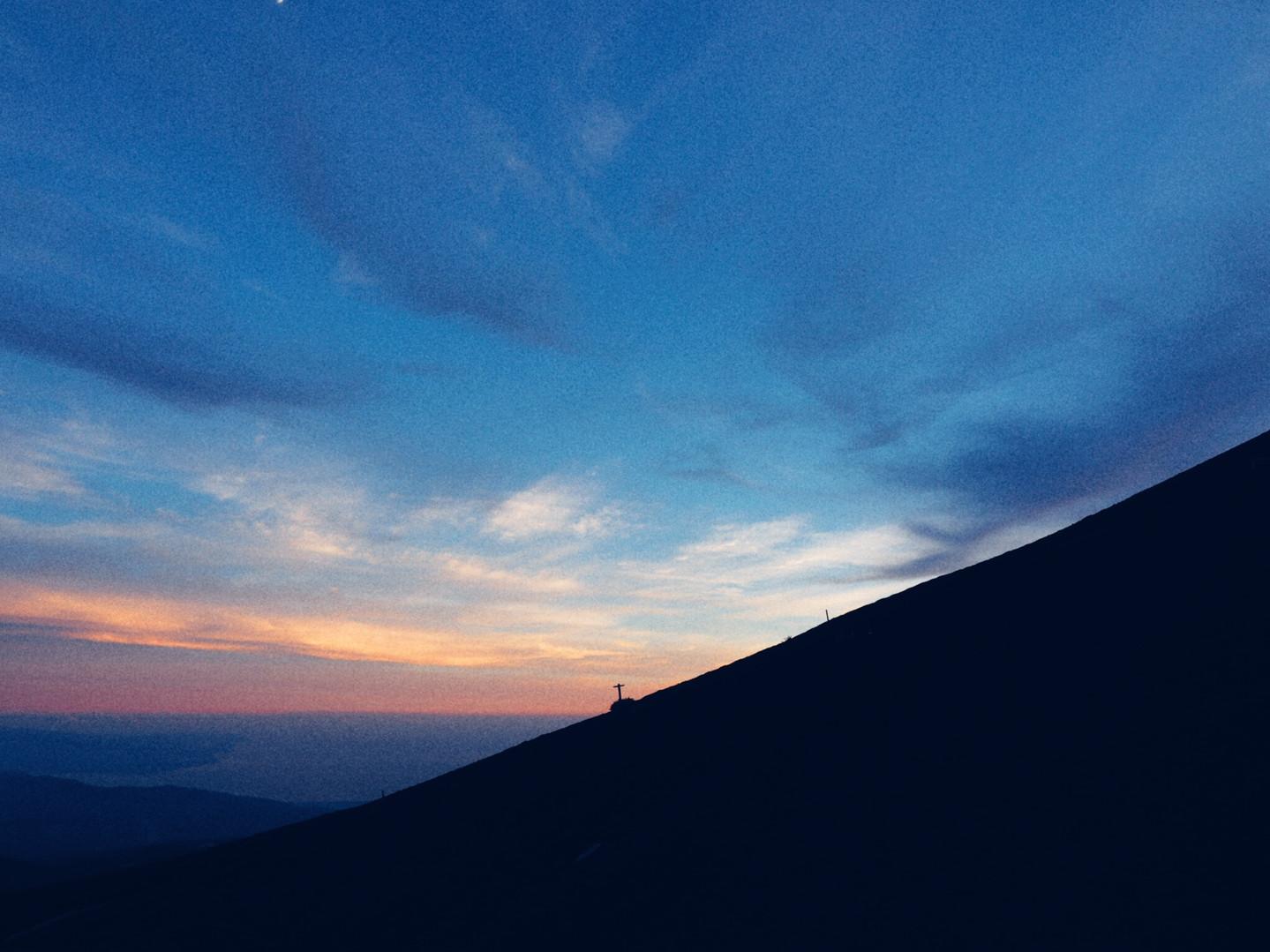 Sur le dos du Fuji