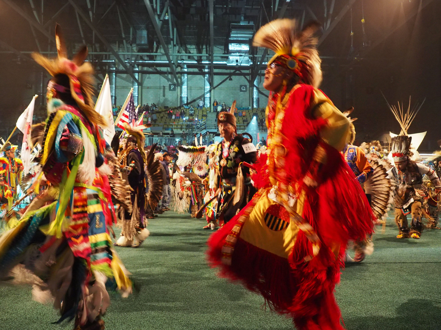 "Pow-wow festival procession ""grand entry"""