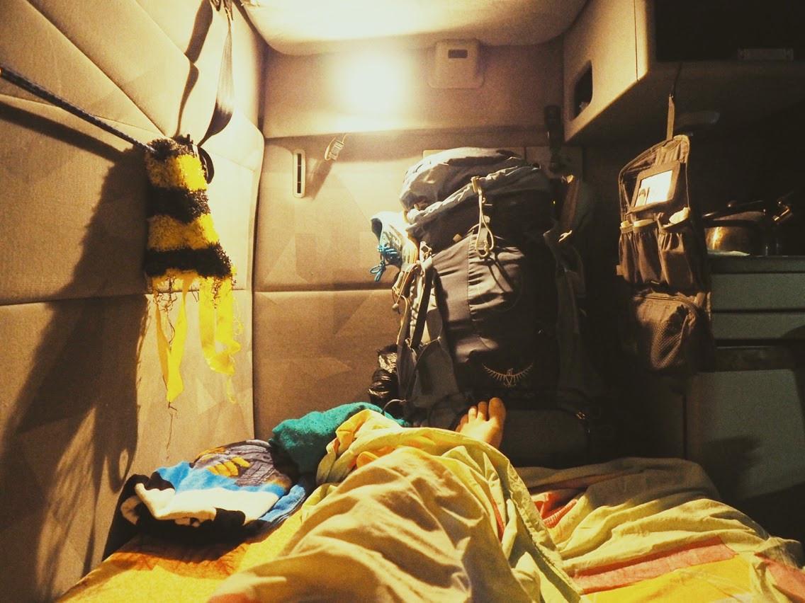 Mon nid dans le camion