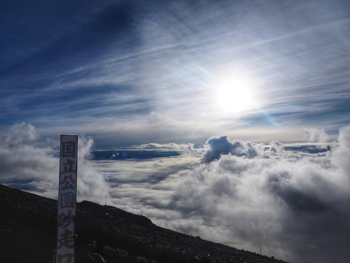 Au sommet du Fuji