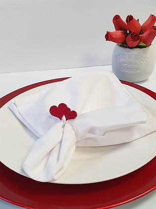 Double Heart Napkins Ring Set of 2