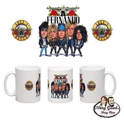 Guns & Roses Personalised Mug C02