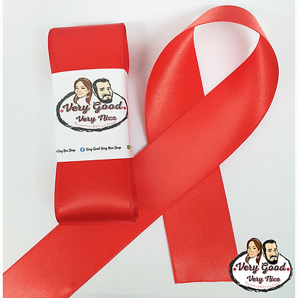 Double Sided Satin Ribbon Red