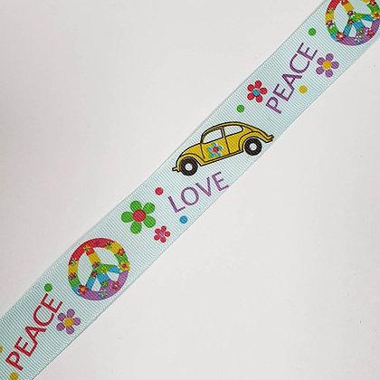 Peace and Love Grosgrain Ribbon