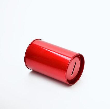 Red Tin Money Box