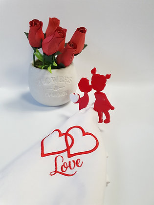 Cute Couple Napkins Ring Set of 2