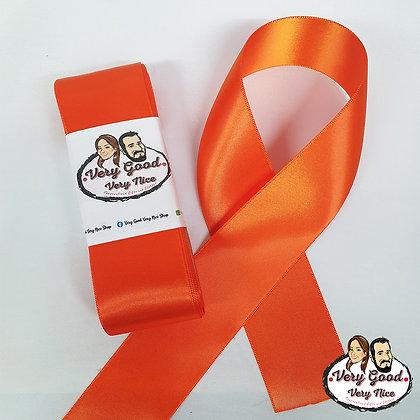 Double Sided Satin Ribbon Orange