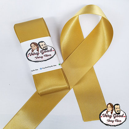 Double Sided Satin Ribbon Gold