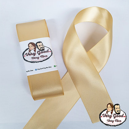 Double Sided Satin Ribbon Light Gold
